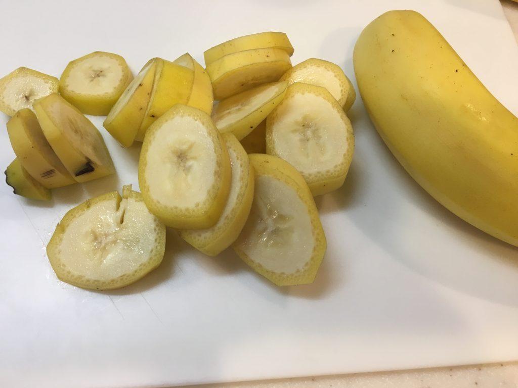 バナナ切った