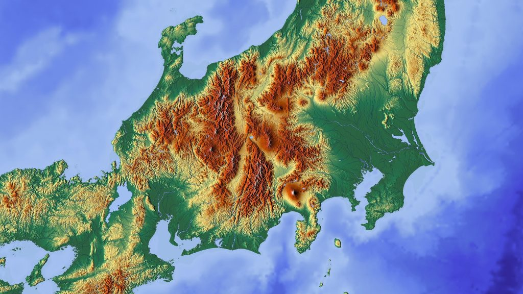 日本本地図
