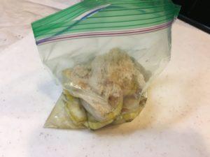 バナナトラップの作り方 - 材料を混ぜる